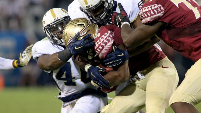 Dalvin Cook couldn't get anything going against Georgia Tech Saturday.
