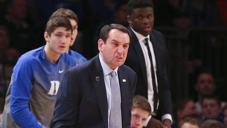 Krzyzewski became the first coach in NCAA men's basketball