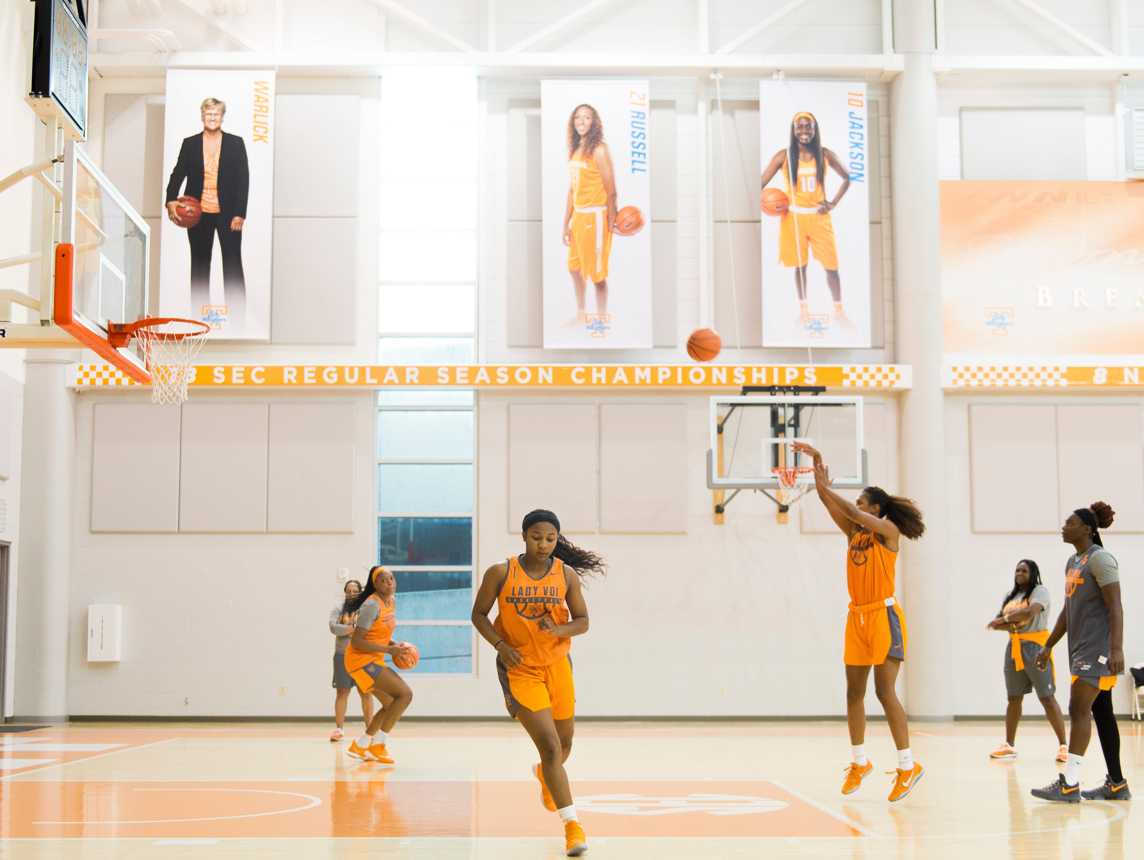The Lady Vols begin their first official preseason practice at Pratt Pavilion on Tuesday, Oct. 3, 2017.