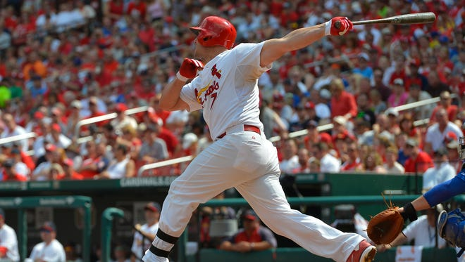 Matt Holliday hit his third home run in two games and broke an eighth-inning tie.