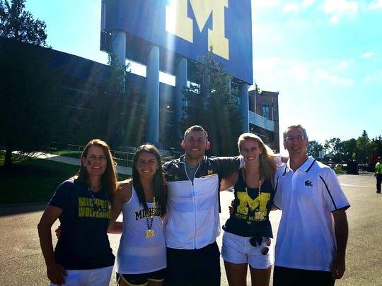 The Hirsch family (L to R): Karen, Ellen, Michael,