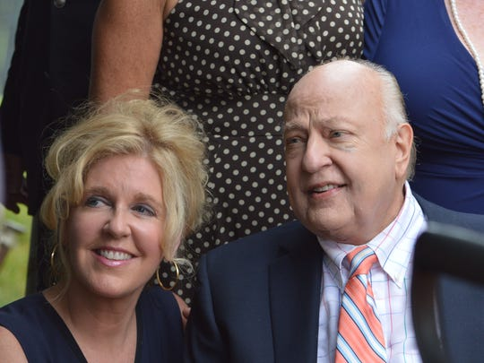 Roger and Elizabeth Ailes, at the 2015 groundbreaking