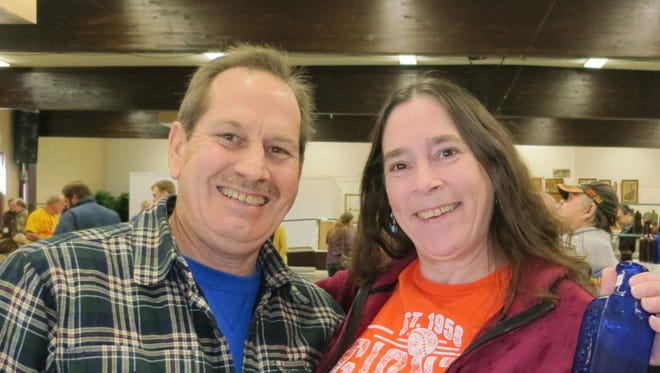 Ray and Peggy Losselyong of Cottonwood attend the 41st. Superior California Antique Bottle Show and Sale on Jan. 28 at the Shasta District Fair grounds in Anderson.