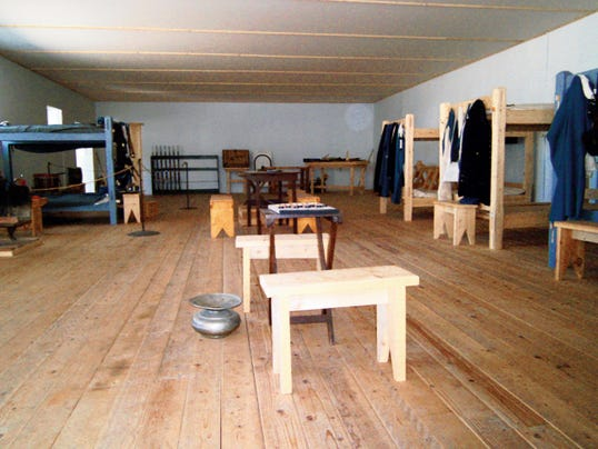 Imagine you're an 1855 soldier stationed at Fort Stanton and living in these reconstructed barracks.