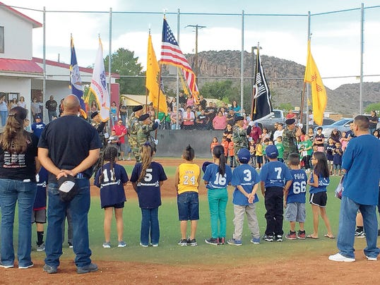 Danny Udero/Sun-News   Copper Little League held closing ceremonies and announced All-Stars this past week.