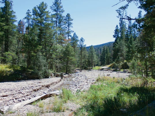 Eagle Creek near the North Fork wells remains a popular hiking area and village officials want to fence around the wellheads to protect them.