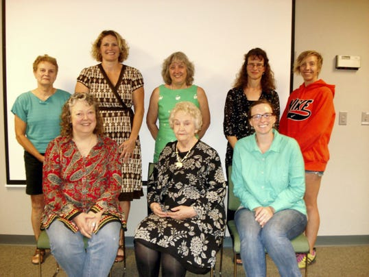 These York County Literacy Council tutors completed their training in August. Pictured sitting, from left are: Bonnie Bissett-Tissier, Betty Faulkenberry and Natalie Mollett; back row, Bobbi Gorman, Toyah Houck-Nastanovich, Erica Runkles, Peggy Baker and Sarah Gawens.
