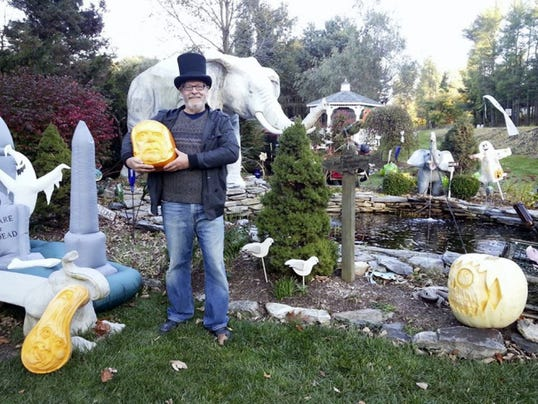 Michael Allison will carve pumpkins that will be raffled off to benefit Adams County SPCA. His pumpkin art has been featured at the White House and at the vice president's residence.