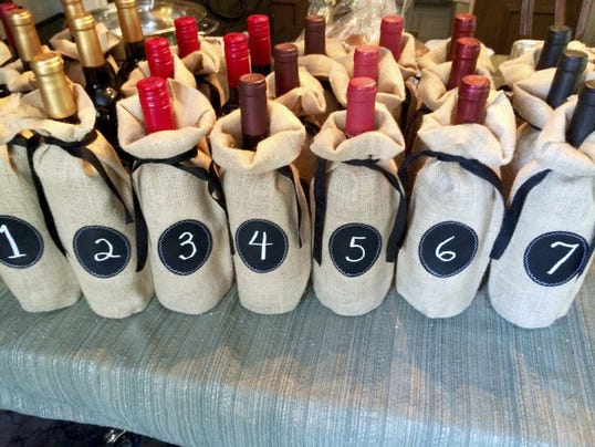 When hosting a wine tasting, be sure to cover the bottle labels so guests can make an informed decision about what wines they enjoy.