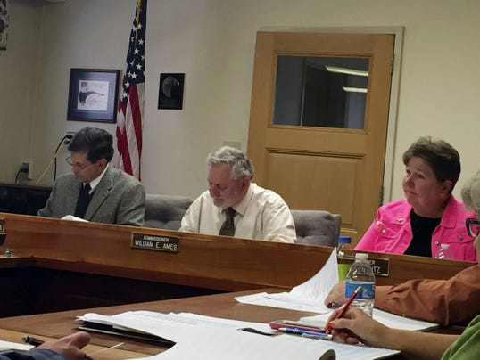 The Lebanon County Board of Commissioners, from left, Bob Phillips, Bill Ames and Jo Ellen Litz finished three days of budget hearings on Thursday. But their work is not over. The county is facing a budgetary shortfall of over 7 million.
