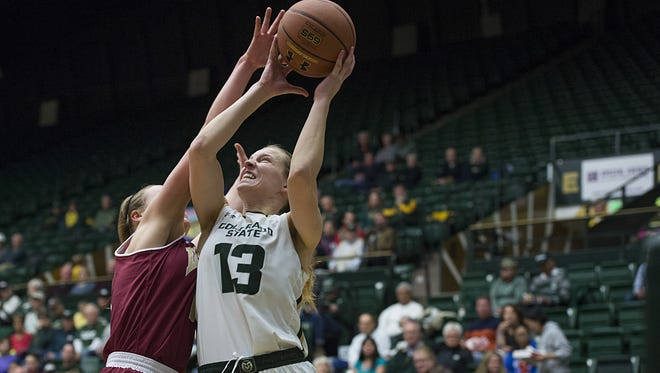 CSU guard Ellen Nystrom has moved into 18th place on the Rams' all-time scoring charts.
