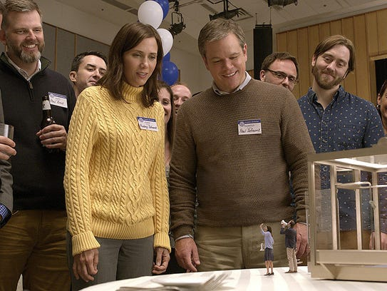 "Matt Damon and Kristen Wiig star in ""Downsizing."" The"