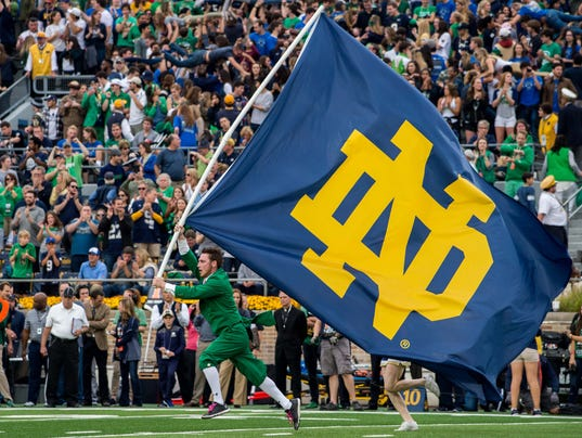 notre dame football game score play football game