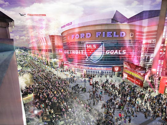 The proposed Detroit Major League Soccer site is Ford