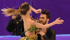 French ice dancer Gabriella Papadakis' dress became