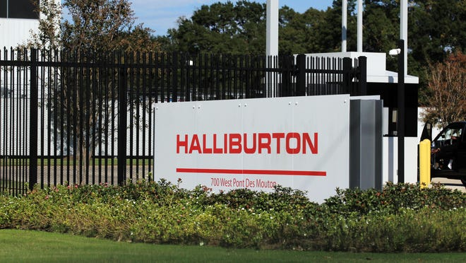 The Halliburton location on Pont des Mouton Road is pictured Monday, November 17, 2014.