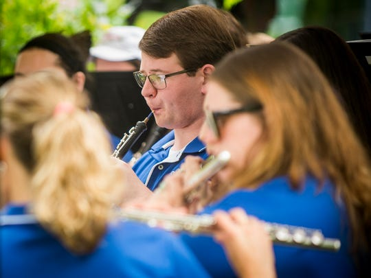 The Tennessee Wind Symphony performs during Honor Fountain City Day on Monday, May 29, 2017.