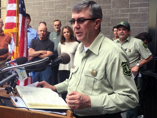 Tony Tooke, chief of the U.S. Forest Service, speaks