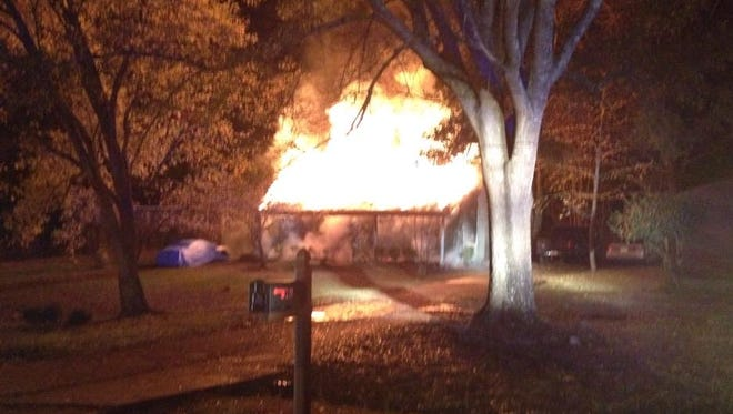 A man was rescued from a house fire on Lea Circle early Saturday morning.