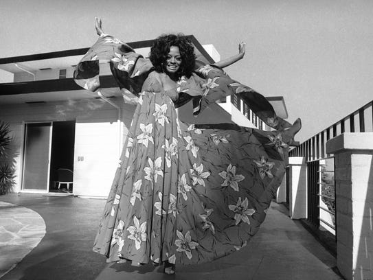 Diana Ross, pictured at home in April 1971, was the
