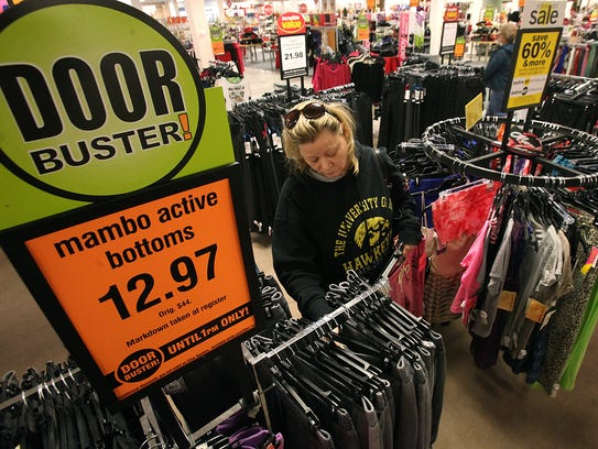 Rhonda Thomas of Des Moines shops for some good deals