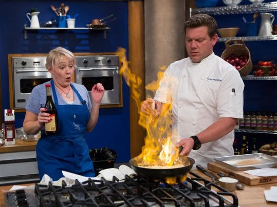 St Cloud Native Sarah Bettendorf Cooks With Celebrity Chef Tyler Florence Photo Submitted