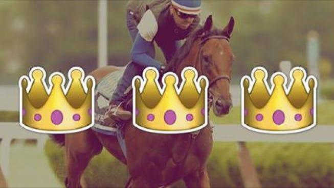American Pharoah wins Triple Crown.