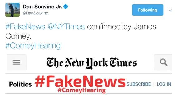 Dan Scavino Jr. tweeted on Thursday.