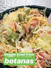 Veggie bowl from Botanas.