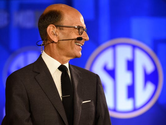 USP NCAA FOOTBALL: SEC-MEDIA DAY S FBC USA AL