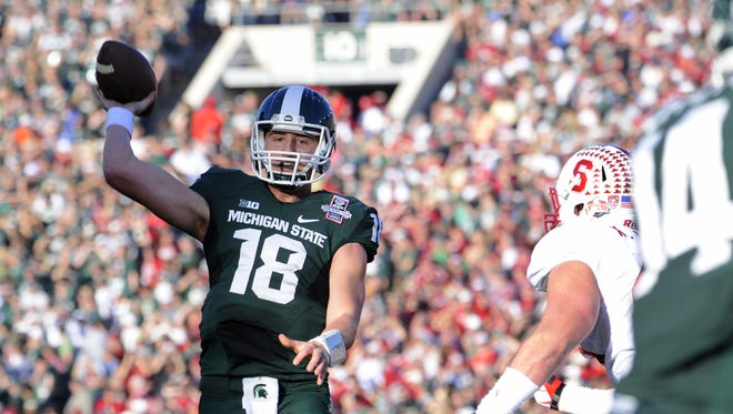 MSU Connor Cook was the Rose Bowl offensive MVP after the Spartans beat Stanford on Jan. 1, 2014.