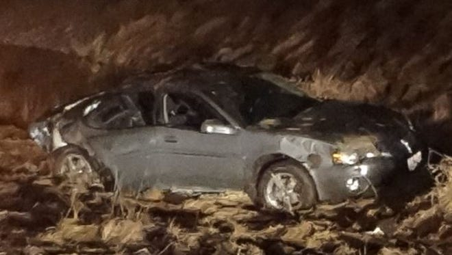 Four people were injured early Saturday in a two-car crash in Dodge County. A Waupun man was arrested on suspicion of operating while intoxicated.