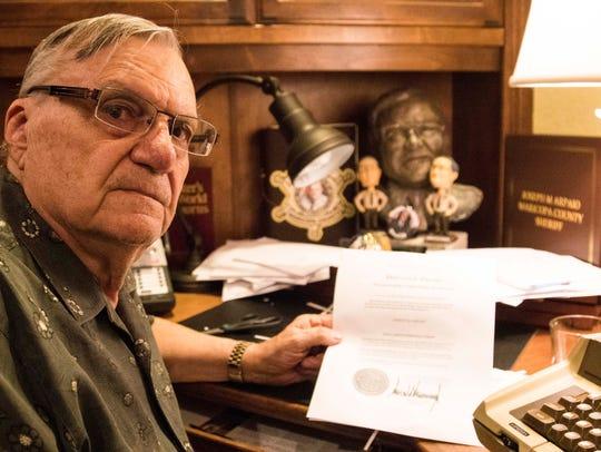 Former Sheriff Joe Arpaio speaks to the Arizona Republic
