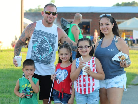 This family enjoyed the fireworks and food at the event. Left to right: Trigg, Mark (Dad), Taylor, Jada, and Hannah Wilson (Mom).