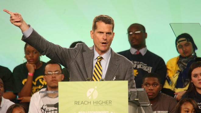 Michigan coach Jim Harbaugh