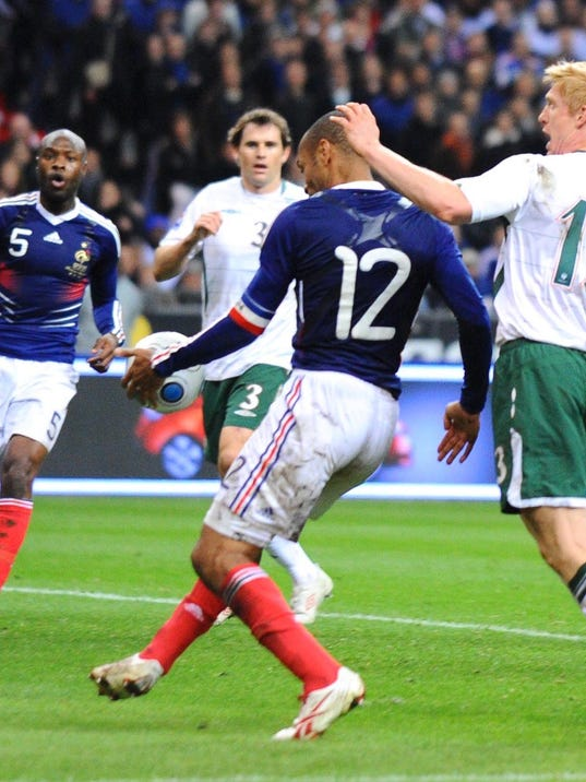 Image result for thierry henry handball