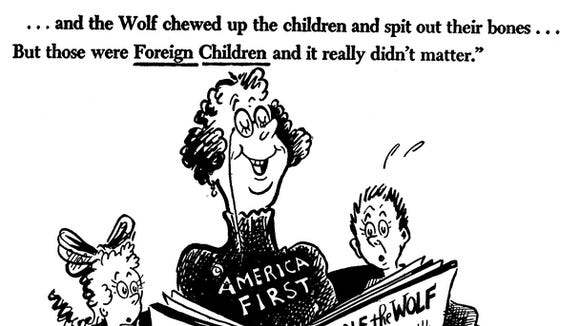 Dr  Seuss's political cartoons re-emerge amid criticism of