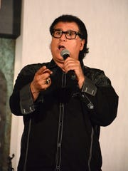 Comedian Stu Moss performs during the Kosher Comedy Tour.