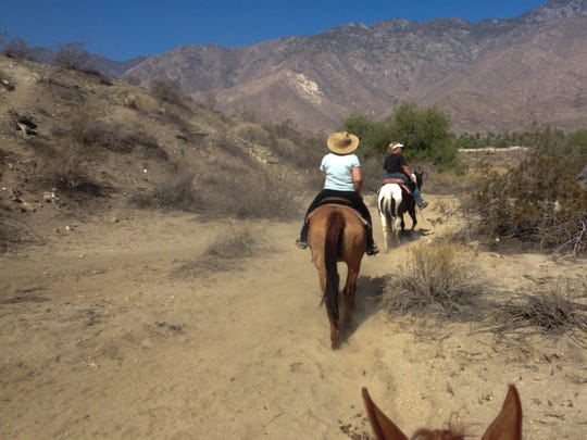 Smoke Tree Stables in Palm Springs, CA offers hour-long trail rides along base of the Santa Rosa Mountains on the southern end of the desert town.