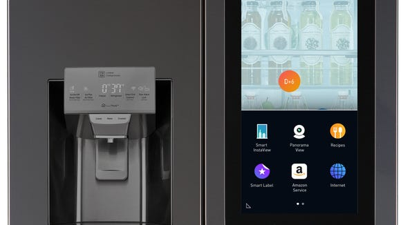LG's latest InstaView fridge has a touchscreen tablet, see-through window, and Amazon Alexa built-in.