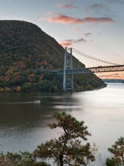 A view of the Bear Mountain Bridge in the early morning, near Fort Montgomery in Orange County.