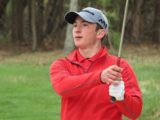 Doug Ergood of Lenape was runner-up at the Galloway National Challenge golf tournament at Galloway National Golf Club in Galloway Township on Tuesday, April 17, 2018.