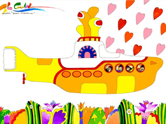 """""""We All Live in a Yellow Submarine,"""" by Ron Campbell."""
