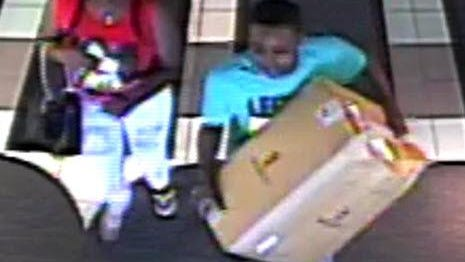 Two of the suspects wanted for the theft of over $3,800 worth of hats from the Lids store in Westland Shopping Center.