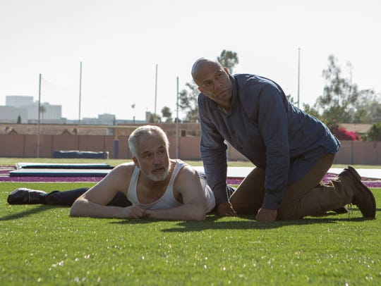 "Bradley Whitford (left) and Common star in ""A Happening"
