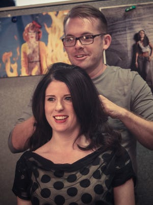 Todd Shrider styled Leslie Bailey's hair during a September 2012 photo shoot for The Star.