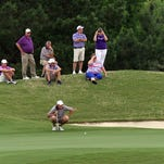 Golfers compete in the 2015 Allstate Sugar Bowl State Golf Tournament Divisions at The Farm d'Allie golf course in Carencro.