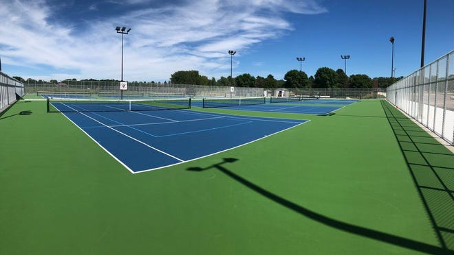 The new state-of-the-art tennis courts at St. James High School.