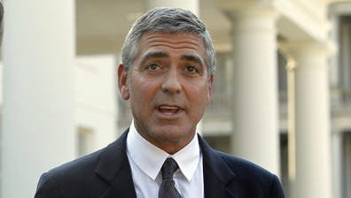 George Clooney at the White House in 2010.