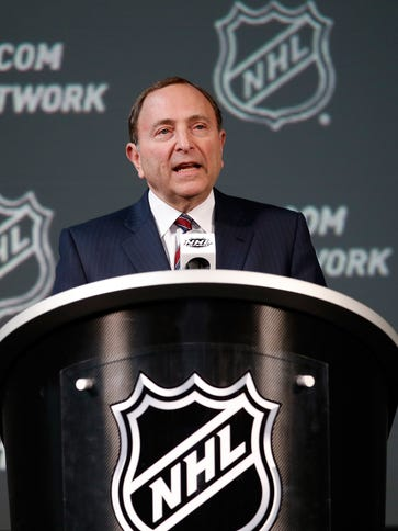 NHL Commissioner Gary Bettman said the salary cap could